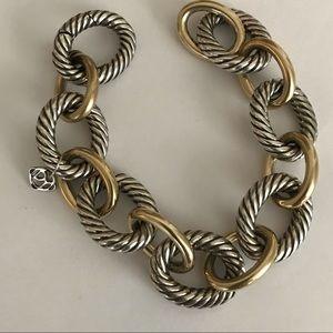 David Yurman Jewelry - David Yurman Sterling & 18K XL oval link bracelet